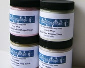 Body Washes, Whipped Soaps, Four - 4 ounce jars for 26 dollars, Cream Soap, Vegan, Fluffy Whip, Foaming Bath Whip, Your Choice of scents
