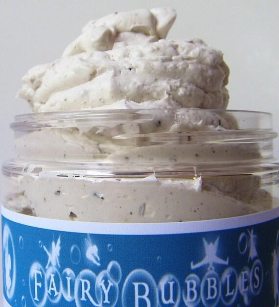 Scrubs, Whipped Soap Scrub, Vanilla Hazelnut Coffee, 8 oz jar, by fairybubbles