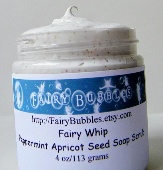 Scrubs, Peppermint Apricot Seed Whipped Soap Scrub, Vegan, 4 oz jar