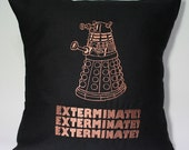 Embroidered Dr Who Inspired Dalek 14x14 Pillow Case Cover