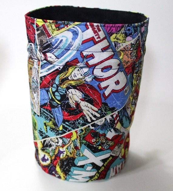 Marvel Comics Thor Iron man Hulk Wolverine Round Bottom Drawstring Bag