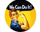 We Can Do It - Vintage WWII Poster Button