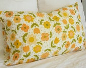 Orange Floral Pillowcase