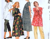 Sewing pattern Maternity Dresses Top Pull on Pants and Capri Pants