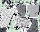 80s Master Sewing Pattern for Knit Fabric Loose Fitting Oversized Tops.