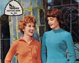 1960s Vintage Hand Knitting patterns Ladies Sweaters
