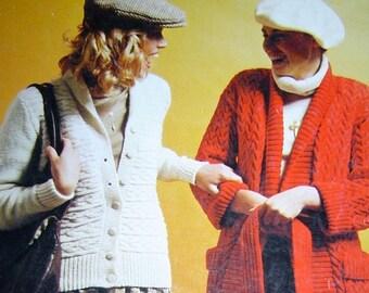 Vintage 1970s Knitting pattern Groovy ladies Styles