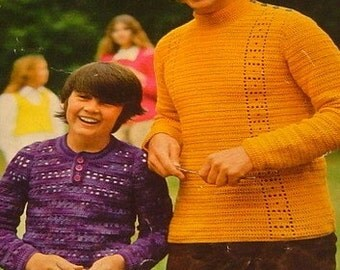 Crochet Patterns for the whole family groovy 1970s style fashion