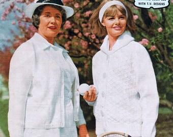Vintage 1960s knitting Patterns Sports Cardigans Sweaters Sleeveless Vest