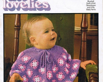 Toddlers Knitting and Crochet Patterns Vintage 1970s