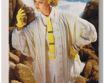 Vintage 1980s Hand Knitting Patterns Winter Whites