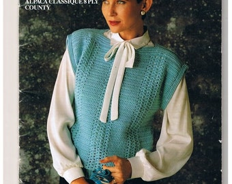 Ladies Crochet patterns Sweaters Vests Jackets