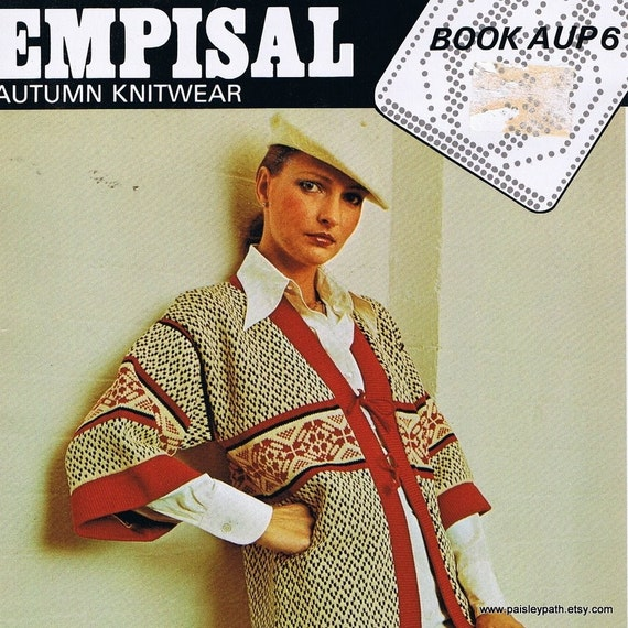 Vintage 70s Empisal Knitting Machine Patterns