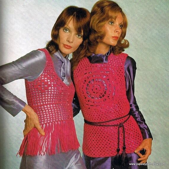 Groovy Crochet Vests 1970s Ladies Patterns