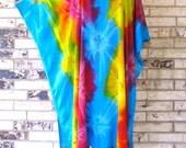 Extra Long Plus Size Tie Dye Tunic/Caftan