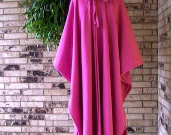 PICK YOUR COLOR  Irish Fleece Hot Pink Cape Plus Size