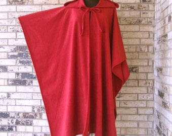 "Plus Size ""ANY COLOR""  Fleece Irish Cape"