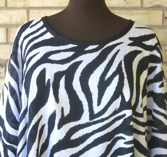 Plus Size Tunic Zebra Striped