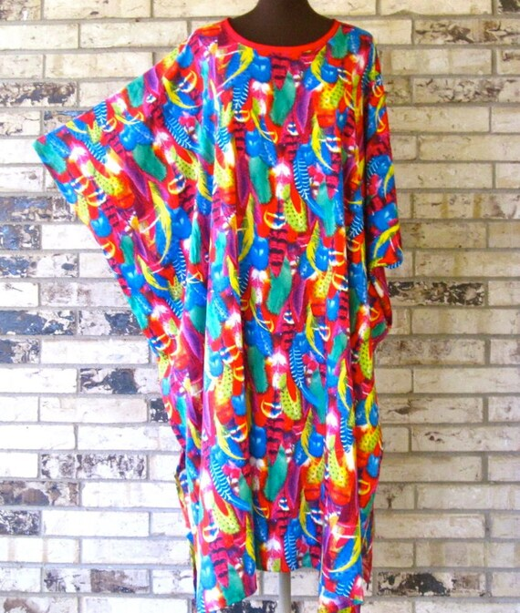 Plus Size Premium Feathered Rayon Caftan