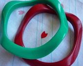 Wavy bangles (2pc)