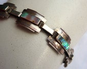 Silver and Abalone vintage bracelet