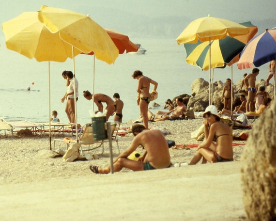 Vintage 70s Beach Croatia Photography 1970s