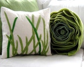 tall grass pillow square cover for 16x16