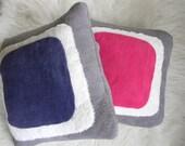 color block pillow cover 16x16 purple