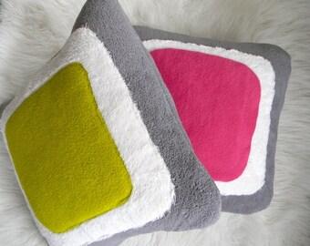 color block pillow cover 16x16