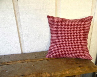 herringbone home decor pillow cover in pink and burgundy