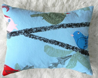 birds on some branches pillow cover 16x20