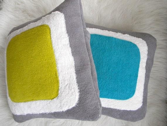 color block pillow cover 14x14