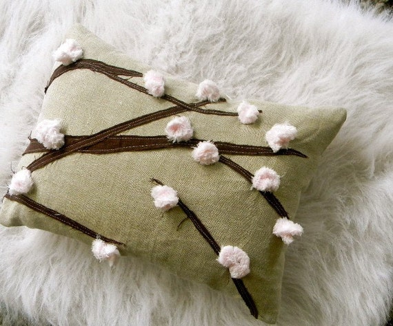 cherry blossom pillow 12x16 i love japan