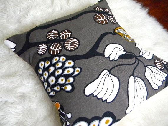 modern dark gray abstract pillow cover