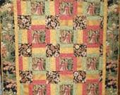 GARDEN GEISHA QUILT  (50x52)