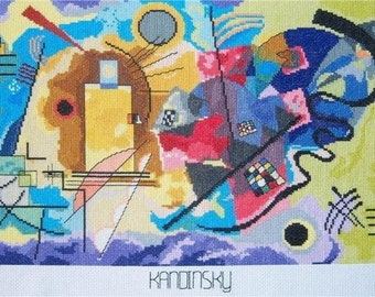 Yellow, Red and Blue c 1890 by Kandinsky--LB08246