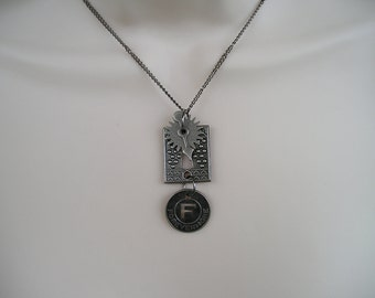 Forevermore Keyhole Necklace with  Charms