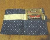 Tea Wallet Vintage Hearts Fabric  HALF PRICE SALE