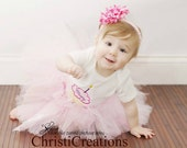 Pretty In Pink  Custom Boutique Birthday Tutu and Cupcake Shirt Set  Custom created for You