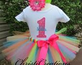 Baby Girl 1st Birthday Tutu Outfit - Cake Smash Photo Prop - Baby Girl Tutu
