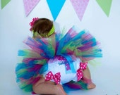 1st Birthday Girl Bloomers - 1st Birthday Diaper Cover - Baby Girl Diaper Cover - Tutu Diaper Cover