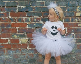 Baby Girl Halloween Costume - Ghost Costume - Toddler Costume - Kids Halloween Costume - Handmade