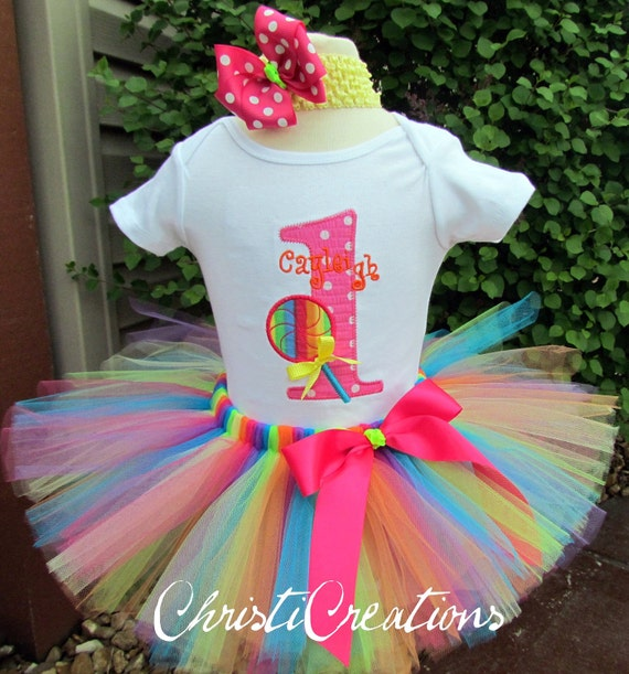 Baby Girl First Birthday Outfit Birthday Tutu By