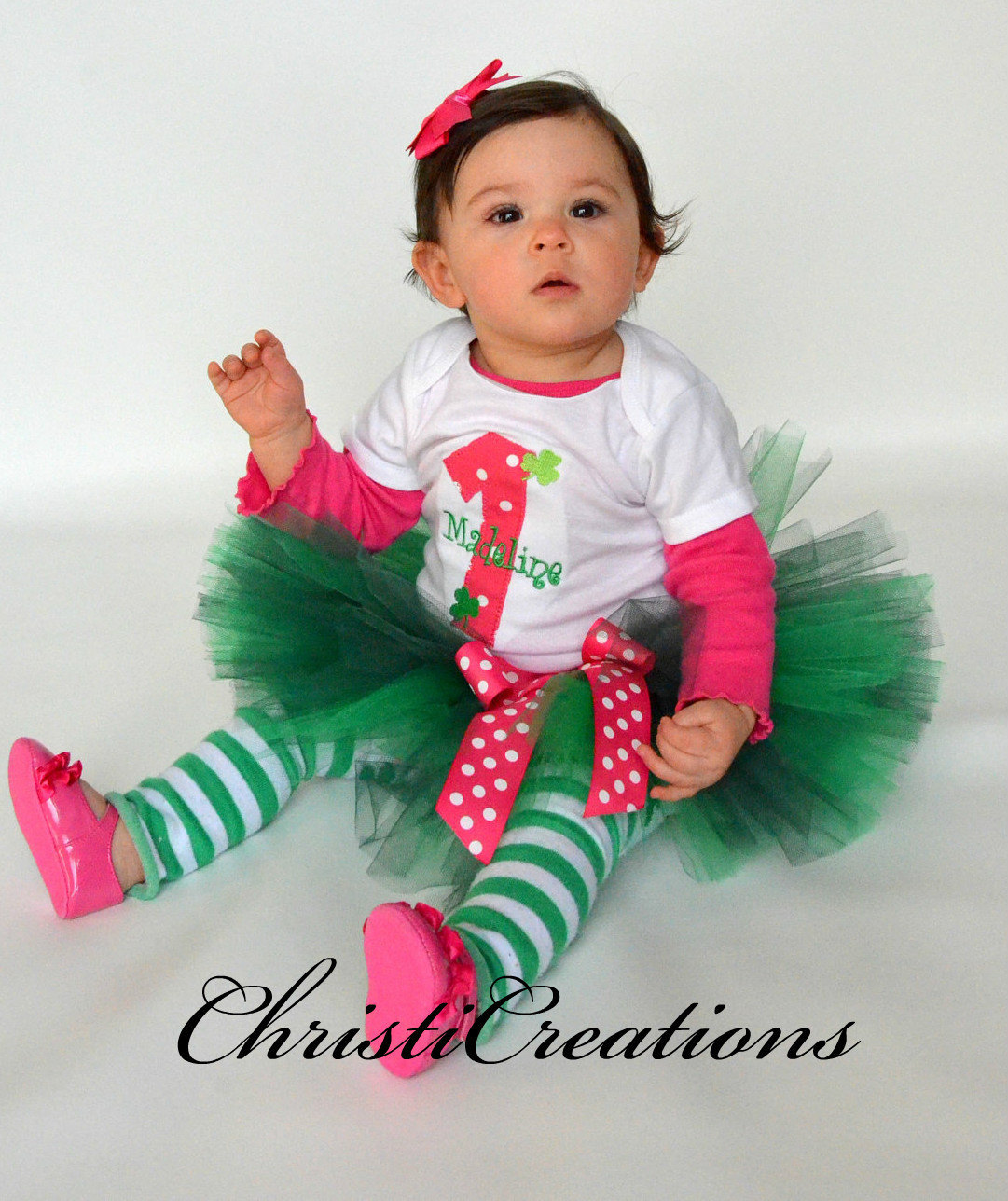 Birthday Party Outfit: Baby Girl First Birthday Outfit St Patrick's Day