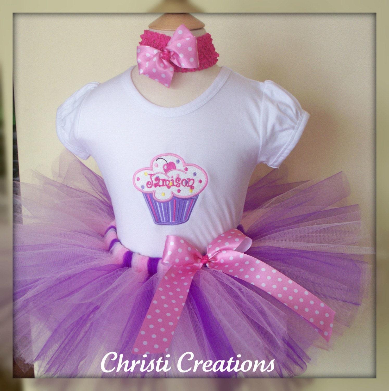 Lil Cupcake First Birthday Custom Boutique Birthday Tutu And