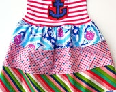 Sailor Girl dress ...Limited edition......Momi boutique