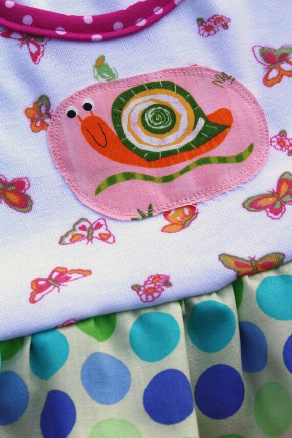 OOAK..RTS..sz 2/3....It's a Snail Tale dress...Momi boutique