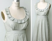Bridesmaid Dress with pockets, light sage cotton