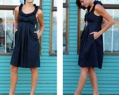 RESERVED for ALLIE midnight navy bridesmaid dress 10/12