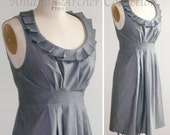 RESERVED for HEATHER herringbone gray bridesmaid dress RACERBACK 10/11